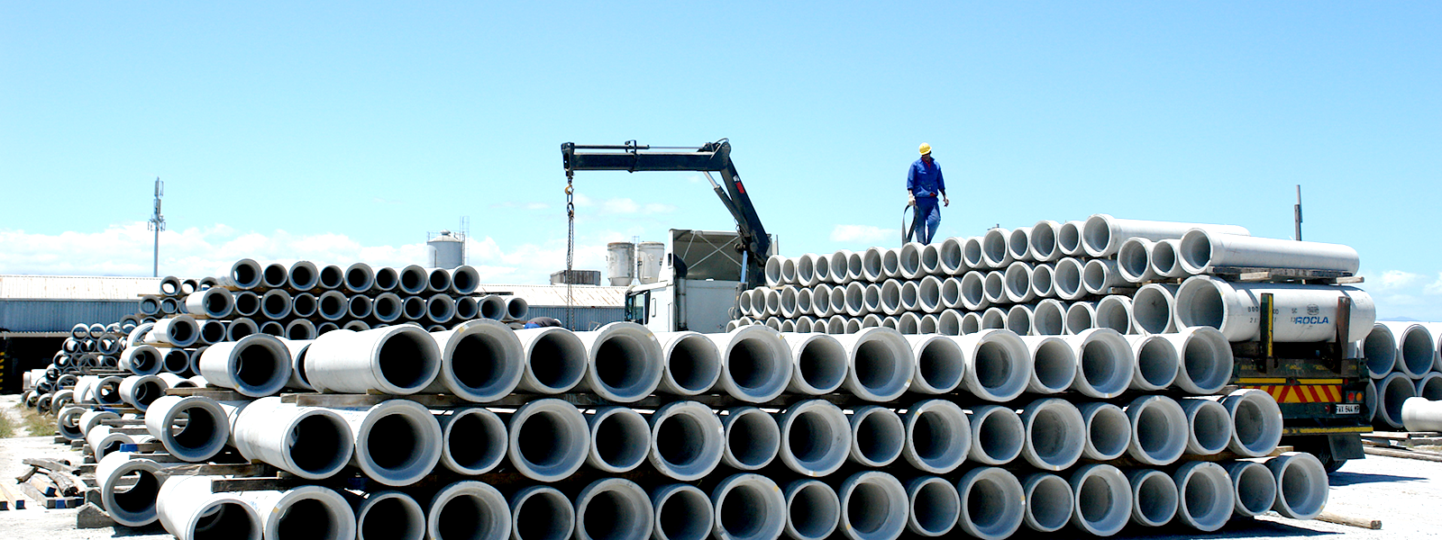 Rocla – Manufacturing concrete pipes and precast concrete pipes in
