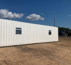 12 METRE FULLY INSULATED CONTAINERISED OPEN PLAN OFFICE  UNIT AND PAVING DONATED TO MPUMULANGA PRIMARY SCHOOL BY ROCLA AND TECHNICRETE
